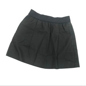 NEW! J. Crew solid black pull on mini skirt